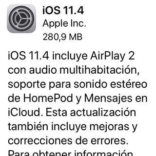 Novedades IOS 11.4