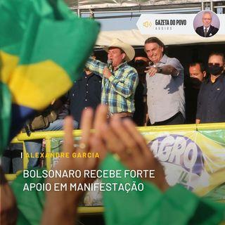 Bolsonaro recebe forte apoio em manifestação