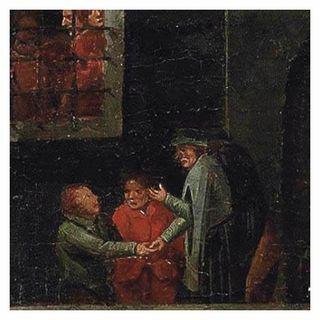 Gesù incarcerato aspetta che un amico lo visiti