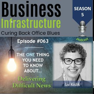 63: The One Thing You Need to Know About Delivering Difficult News   Liz Kislik