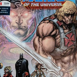 HE-MAN vs MAN OF STEEL crossover comic