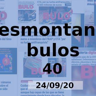 Desmontan do bulos 40 (24/09/20)