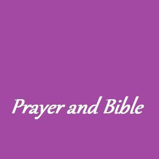 Prayer and Bible