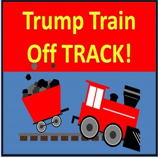 Trump's Train OFF THE TRACK! @realdonaldtrump #treasontrump #crybaby #republicans