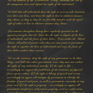 Libertarian Party Radical Caucus Statesman Tom Arnold .. The Statement Of Principles   May 17, 2019