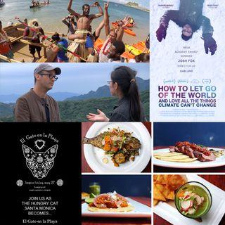 Filmmaker Josh Fox and Chefs David Lenz & Kris Longley of El Gato en la Playa and The Hungry Cat
