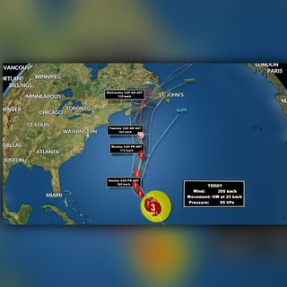 Hurricane Teddy Update Sept. 19, 2020 from SaltWire Network Meteorologist Cindy Day