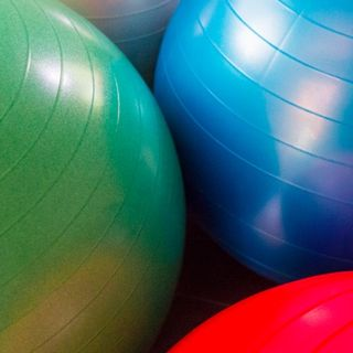 Bouncing Exercise Ball