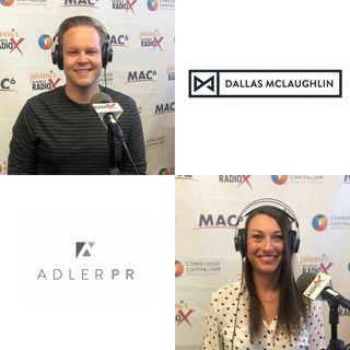 Adler Public Relations CEO Jennifer Adler and Digital Marketer Dallas McLaughlin