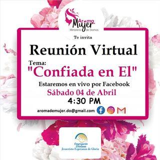 Ministerio Aroma de mujer, reunion virtual