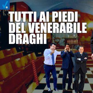 Tutti ai piedi del venerabile Draghi - Dietro il sipario - Talk show