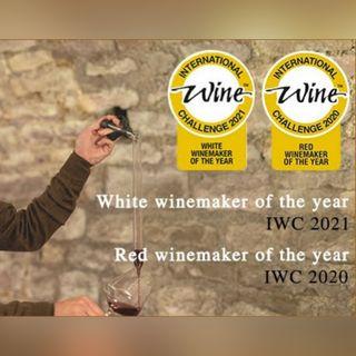 Mark DeWolf with Winemaker Laurent Delaunay