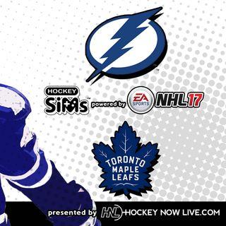 Lightning vs Maple Leafs (NHL 17 Hockey Sims)