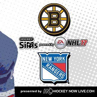 Bruins vs Rangers (NHL 17 Hockey Sims)