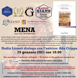 L'ACBLL presenta : Nadia Lisanti dialoga con Ada Crippa | Mena