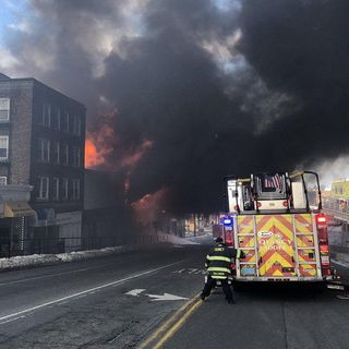 Large Fire Tears Through Four Buildings In Quincy