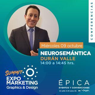 Presentación de Duran Valle que nos hablara sobre Neurosemantica, la herramienta para comunicarmos mejor