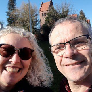 Skærtorsdag. Ulla Morre Bidstrup taler med Peter Nejsum.
