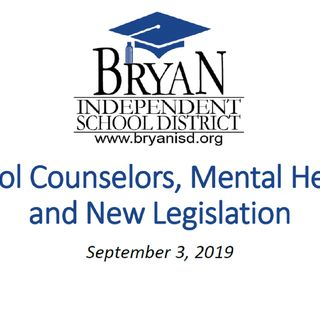 Bryan school board receives update on new state laws regarding counseling and mental health