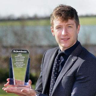 JACK FAGAN, Waterford hurler on being honoured by the Meath Chronicle Re Special Achievment Award