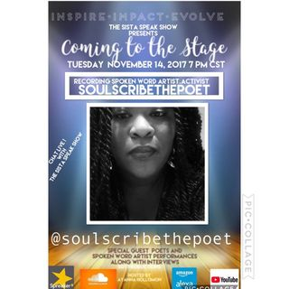 COMING TO THE STAGE : SOUL SCRIBE THE POET