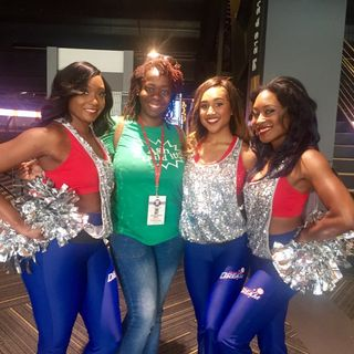 Ash Said It attends Atlanta Dream 1st home game