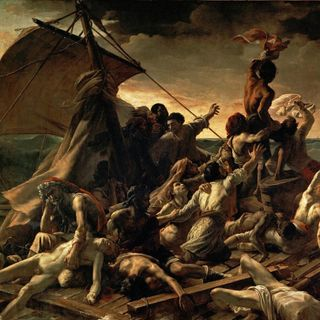 Luwr #6 – Théodore Géricault, Tratwa Meduzy, sala 700
