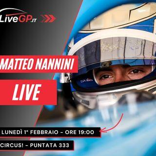 Live con Matteo Nannini | Circus! - Puntata 333
