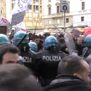 Salvini a Firenze, scontri tra manifestanti e polizia - Lunedì 20 maggio 2019