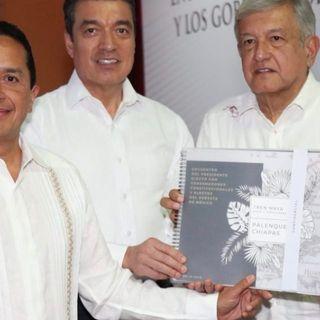 Destaca AMLO construcción de Tren Maya