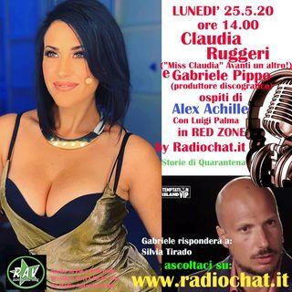 Claudia Ruggeri (Miss Claudia) e Gabriele Pippo ospiti di Alex Achille in RED ZONE by Radiochat.it