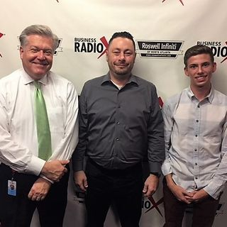 Justin Hoffman with Agency Hydra and Jacob Andrews with Drone iVue