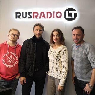 В студии RUSRADIO LT Маргарита Дробязко и Повилас Ванагас