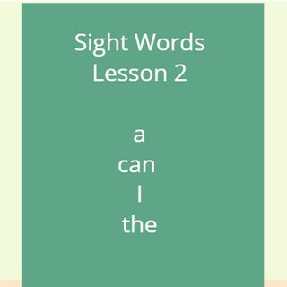 Sight Words Lesson 2