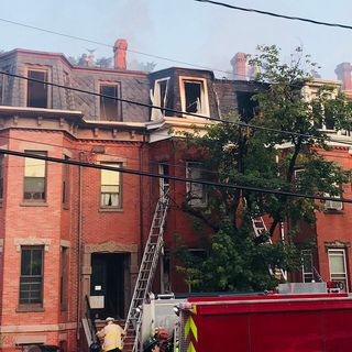 Fire Tears Through Roxbury Brownstone