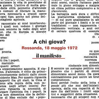 Omicidio Calabresi, a chi giova?
