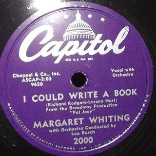 Margaret Whiting I could write a book, I'll walk alone