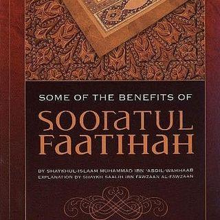 Benefits of Sooratul Faatihah