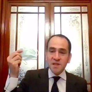 Uso de cubrebocas elemento de éxito para reactivar economía: Herrera