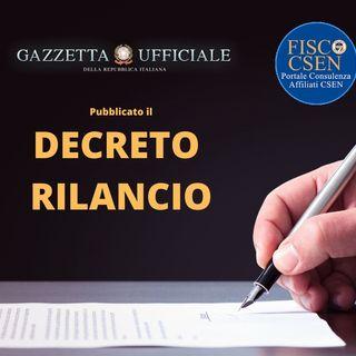 I Giovedì di FiscoCsen - 20 maggio 2020 : Decreto Rilancio