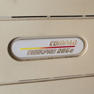 """GEEKING OUT with my """"new"""" Compaq DeskPro 286e!"""