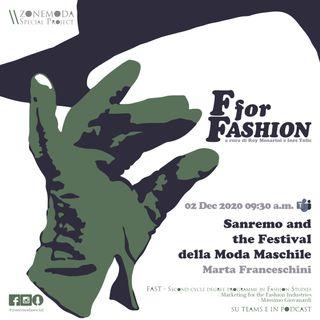 SANREMO AND THE FESTIVAL DELLA MODA MASCHILE / MARTA FRANCESCHINI
