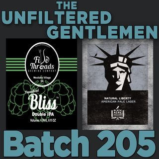 Batch205: Black Acre Brewing Natural Liberty & Five Threads Bliss Double IPA