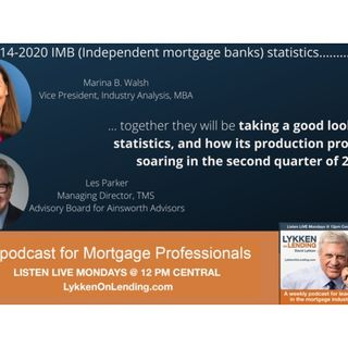 9-14-2020 IMB (Independent mortgage banks) statistics....