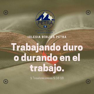Mensaje En 1 Ts 5:16-18.