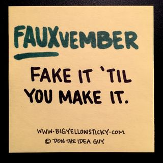 043 : FAUXvember - fake it til you make it!