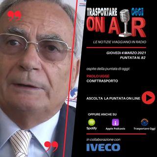 Puntata 82/2021 del 4 marzo - Ospite: Paolo Uggè (Conftrasporto) - Le criticità dell'autotrasporto