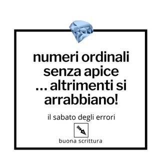 Ep. 48 - Numeri ordinali senza apice, please!
