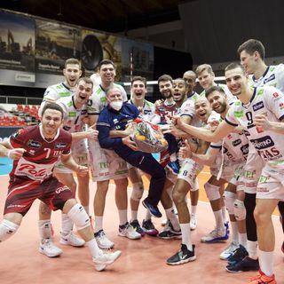 Rossini, Lucarelli e Lorenzetti dopo il 3-0 su Novosibirsk in Germania