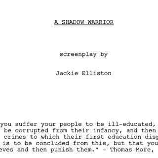 A SHADOW WARRIOR a Jackie Elliston (PART3of3)